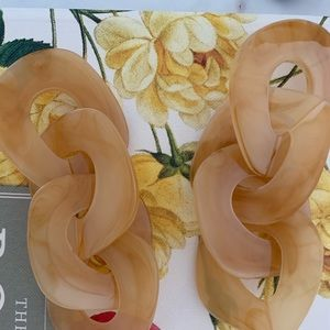 Acrylic Resin Long Drop  Earrings